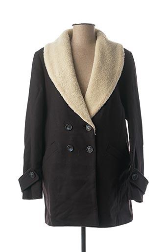 Manteau long bleu DEUX TWO pour femme