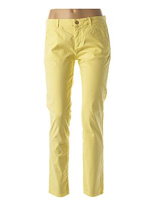 Pantalon casual jaune BÔ-M pour femme