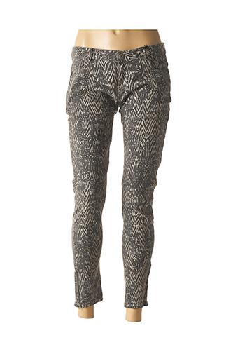 Jeans skinny beige LEON & HARPER pour femme
