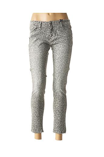 Jeans skinny gris CIMARRON pour femme