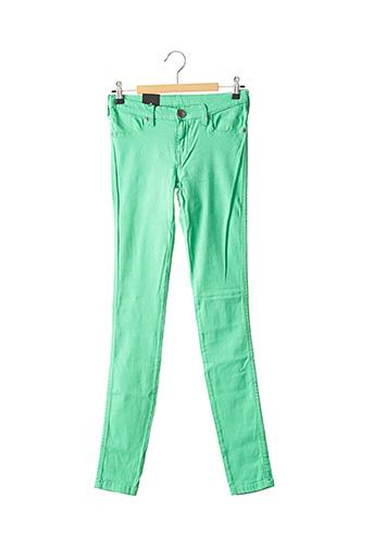 Jeans skinny vert DR DENIM pour femme