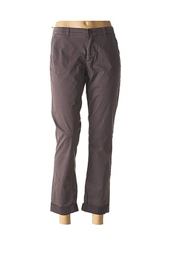 Pantalon 7/8 gris MKT STUDIO pour femme