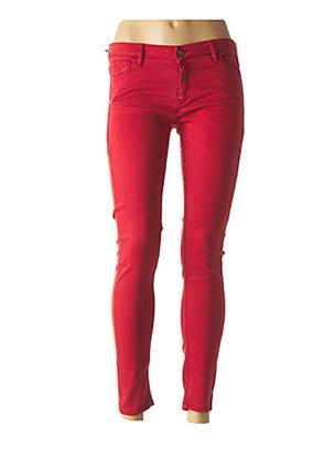 Jeans skinny rouge REIKO pour femme