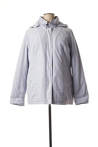 Manteau court bleu EL INTERNATIONALE pour femme