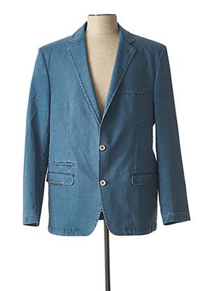 Veste casual bleu LUIGI MORINI pour homme