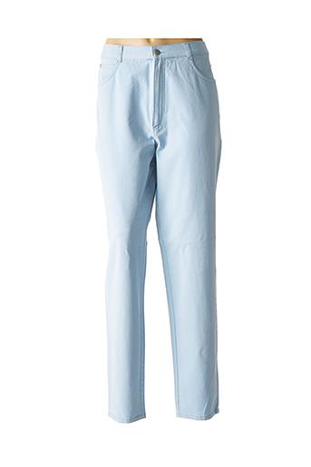 Jeans coupe droite bleu BRUNO SAINT HILAIRE pour femme