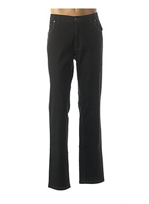 Jeans coupe slim noir LUIGI MORINI pour homme