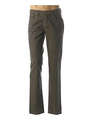 Pantalon casual beige LUIGI MORINI pour homme