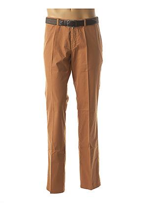 Pantalon chic orange LUIGI MORINI pour homme