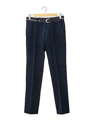 Pantalon casual bleu COSSERAT pour homme