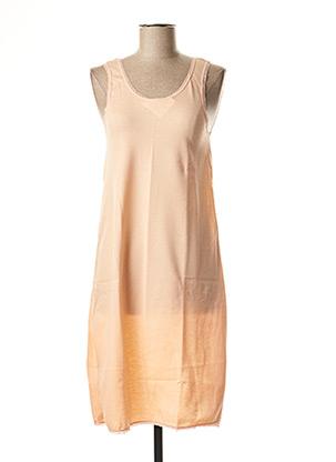 Chemise de nuit orange ACHEL pour femme