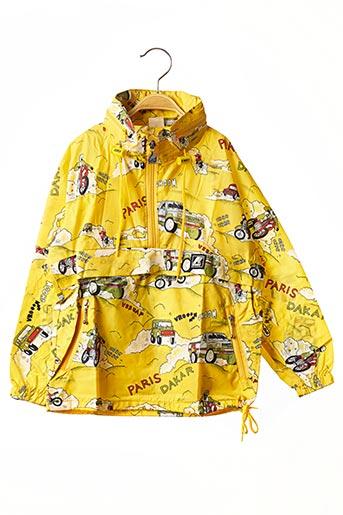 Coupe-vent jaune K. WAY pour garçon