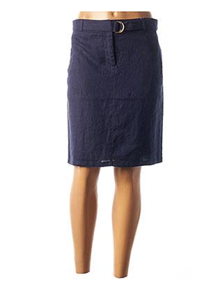 Jupe mi-longue bleu JULIE GUERLANDE pour femme