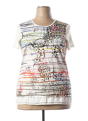 T-shirt manches courtes beige TELMAIL pour femme