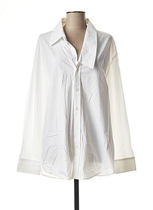 Chemise manches longues blanc BACK pour homme