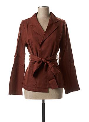 Veste casual marron COSSAC pour femme