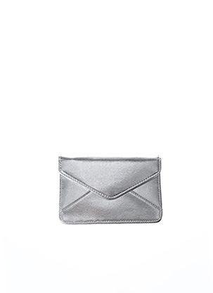 Portefeuille gris DENISE ROOBOL pour femme
