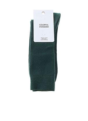 Chaussettes vert COLORFUL STANDARD pour homme