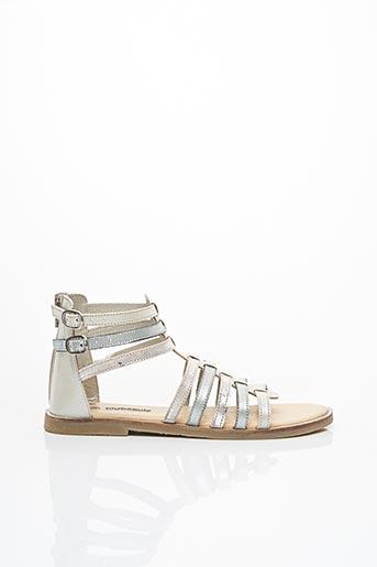 Sandales/Nu pieds gris LILYBELLULE pour fille