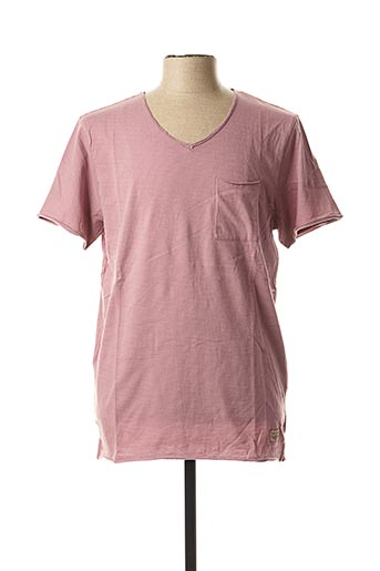 T-shirt manches courtes rose TEDDY SMITH pour homme