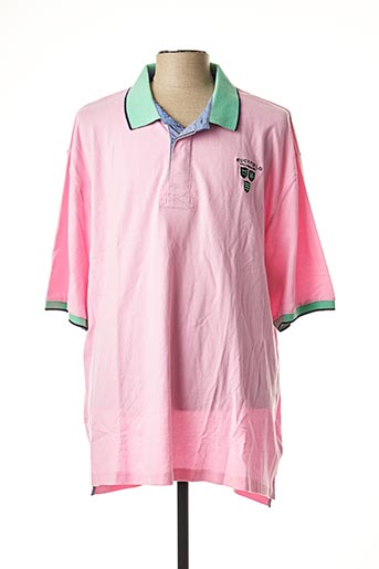 Polo manches courtes rose RUCKFIELD pour homme