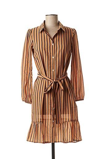 Robe mi-longue marron KAPORAL pour femme