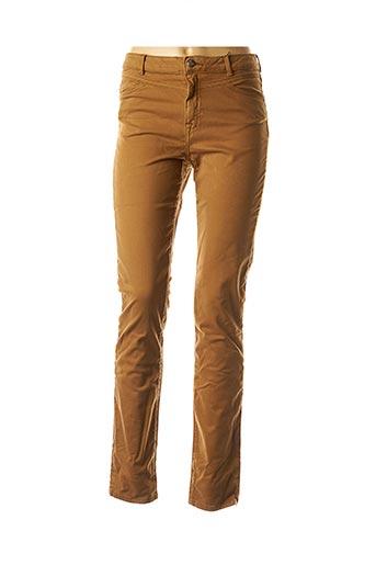 Jeans coupe slim beige EMMA & ROCK pour femme