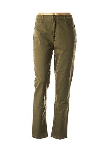 Jeans coupe slim vert DESGASTE pour femme