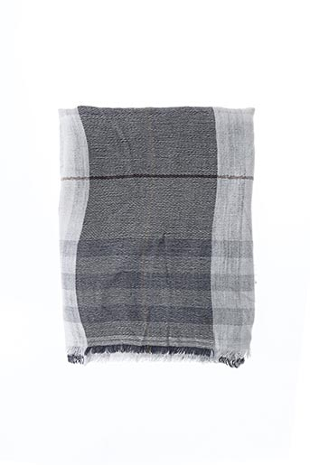 Foulard gris E.SAVALL pour femme