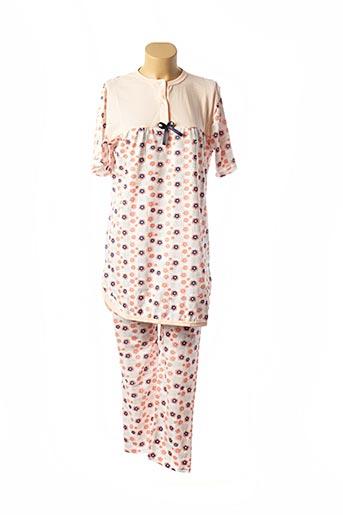 Pyjama orange DIVAMORE pour femme