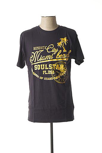 T-shirt manches courtes bleu SOUL STAR pour homme