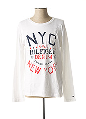 T-shirt manches longues blanc TOMMY HILFIGER pour homme seconde vue