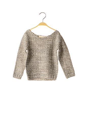 Pull col rond gris KNOT SO BAD pour fille