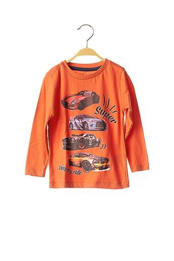 T-shirt manches longues orange KNOT SO BAD pour garçon