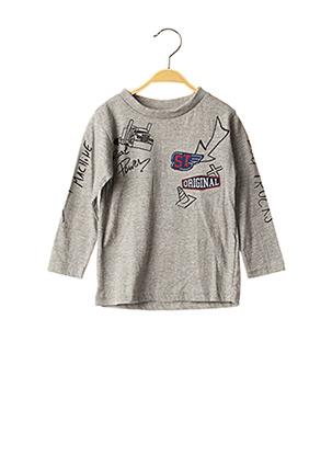 T-shirt manches longues gris KNOT SO BAD pour garçon