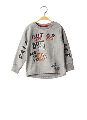 Sweat-shirt gris KNOT SO BAD pour garçon