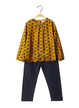 Top/pantalon jaune P'TIT MÔME pour fille