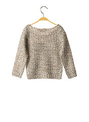 Pull col rond gris KNOT SO BAD pour fille seconde vue