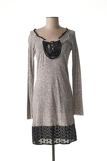 Robe mi-longue gris ONE STEP pour femme