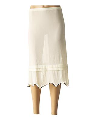 Jupe mi-longue beige ENJOY pour femme