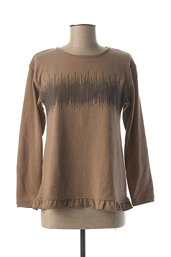 Pull col rond beige MALOKA pour femme
