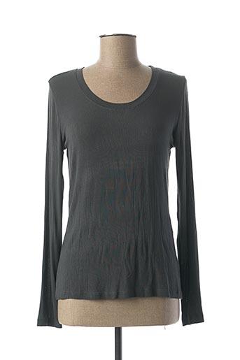 T-shirt manches longues gris LA FEE MARABOUTEE pour femme