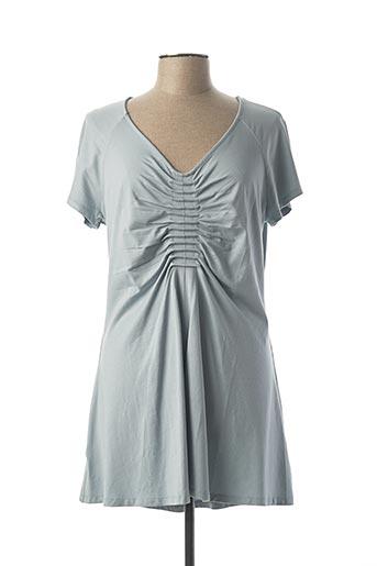 Robe courte bleu LAUREN VIDAL pour femme