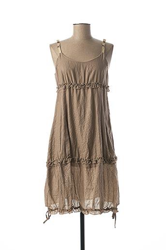 Robe mi-longue beige COCO MENTHE pour femme