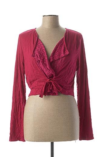 Veste casual rose MALOKA pour femme