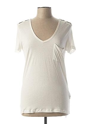 T-shirt manches courtes blanc ONE STEP pour femme