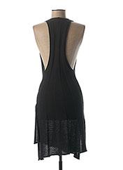 Robe mi-longue noir LAUREN VIDAL pour femme seconde vue