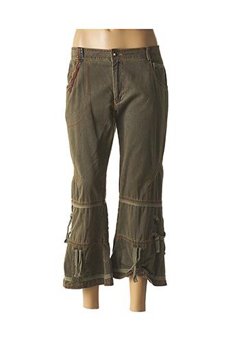 Pantalon 7/8 vert ET COMPAGNIE pour femme