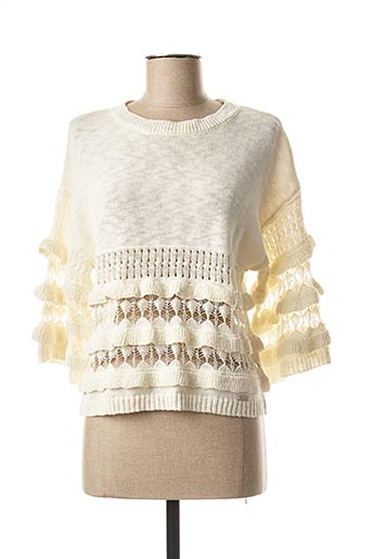 Pull col rond beige SALSA pour femme