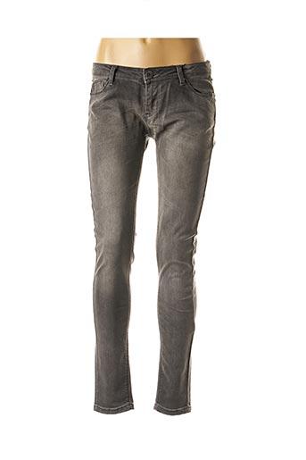 Jeans coupe slim gris BEST MOUNTAIN pour femme
